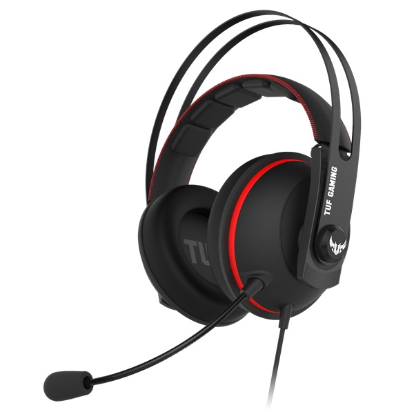 ASUS TUF GAMING H7 fekete-piros gamer headset a PlayIT Store-nál most bruttó 15.999 Ft.